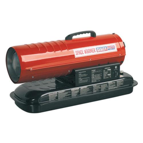 Sealey AB458 Space Warmer Paraffin, Kerosene & Diesel Heater 45,000btu/hr Without Wheels