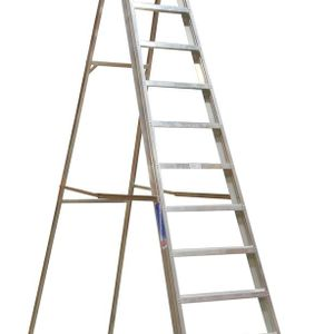 Sealey AXL12 Aluminium Step Ladder 12-tread Industrial Bs 2037/1