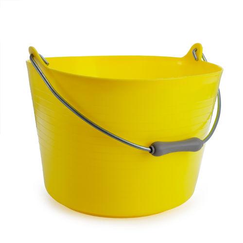 Red Gorilla TT4 Yellow Flexible Bucket With Handle 22L