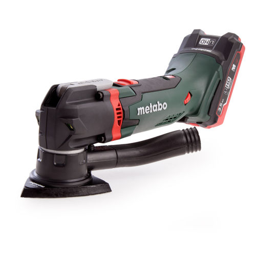 Metabo MT18LTX 18V Cordless Oscillating Multitool (2 x 3.5Ah LiHD Batteries) + 14 Accessories In Carry Case
