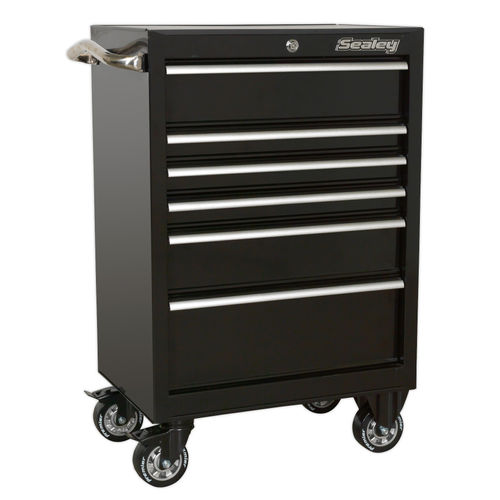 Sealey PTB67506 Rollcab 6 Drawer 675mm Heavy-Duty Black