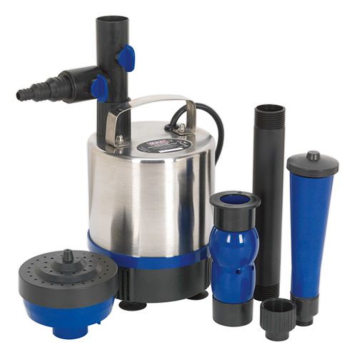 Sealey WPP3000S Submersible Pond Pump Stainless Steel 3000ltr/hr 240V