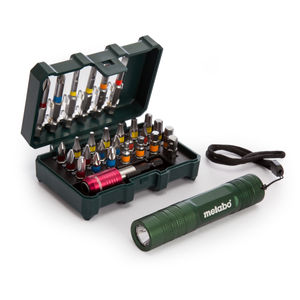 Metabo 6.26721 Bit Box 29 Pieces + LED Torch