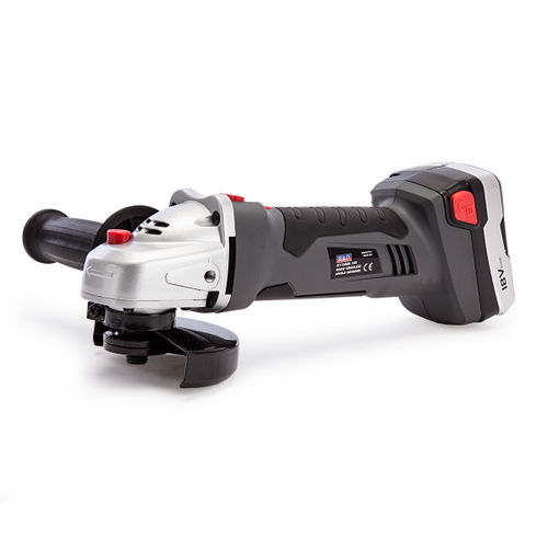 Sealey CP5418V Cordless Lithium-ion Angle Grinder 115mm 18V 1hr Charge - 2 Batteries