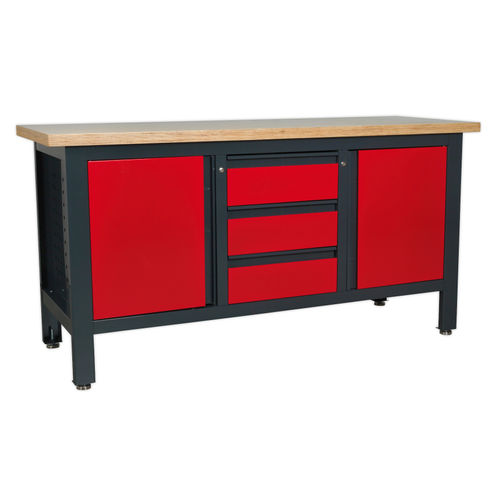 Sealey AP1905C Workstation With 3 Drawers & 2 Cupboards