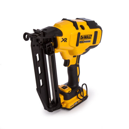 Dewalt DCN660D2 18V XR Cordless li-ion Brushless 2nd Fix Nailer 16Ga (2 x 2Ah Batteries)