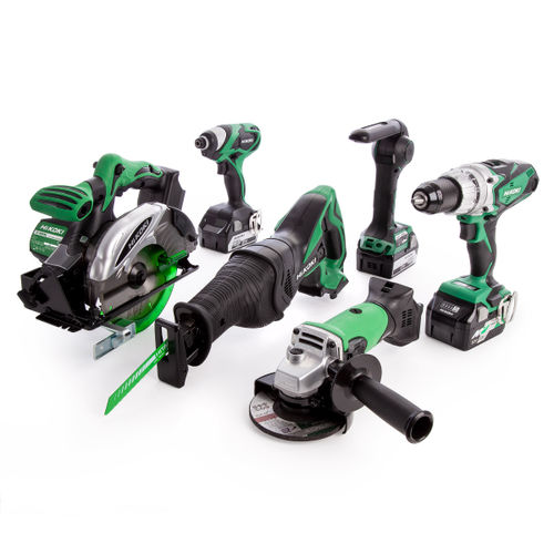 HiKOKI KTL618S2JJ3Z 6 Piece 18V Cordless Kit with Recip Saw (1 x 36V + 2 x 18V Batteries)