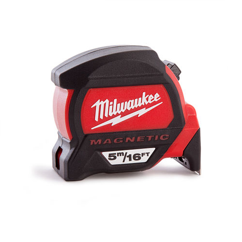 Milwaukee 4932459374 Premium Magnetic Tape Measure 5m / 16ft