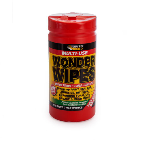 Everbuild WIPE80 Wonder Wipes Trade Tub 100 Wipes