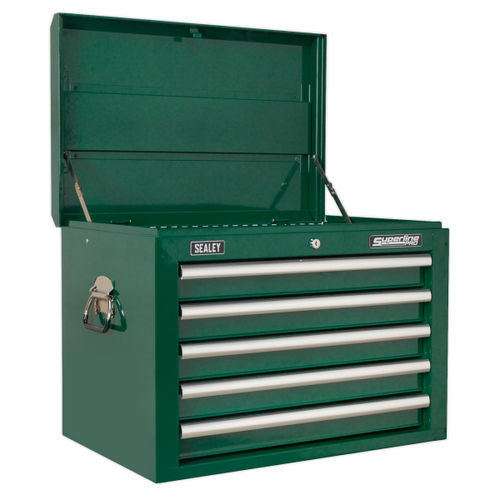 Sealey AP26059TBRG Topchest 5 Drawer With Ball Bearing Runners - Green