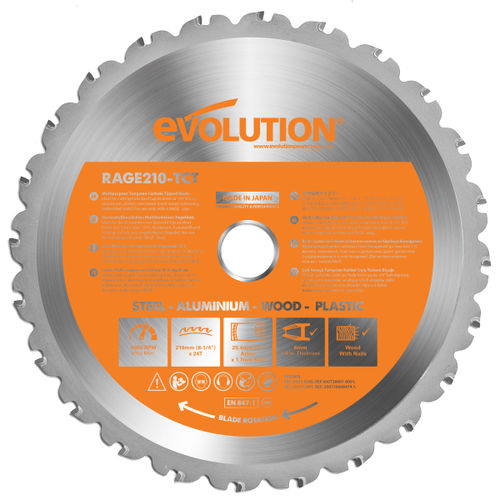 Evolution B210 Cutting TCT Blade 210mm 24 Teeth