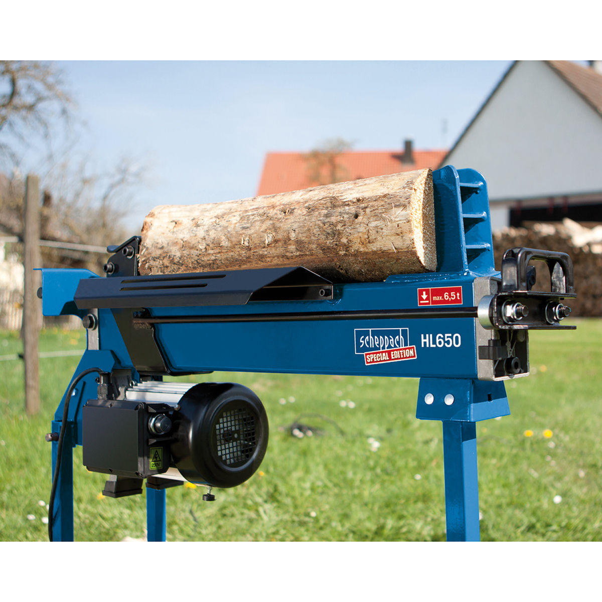 toolstop scheppach hl650 electric log splitter 6.5 ton 240v