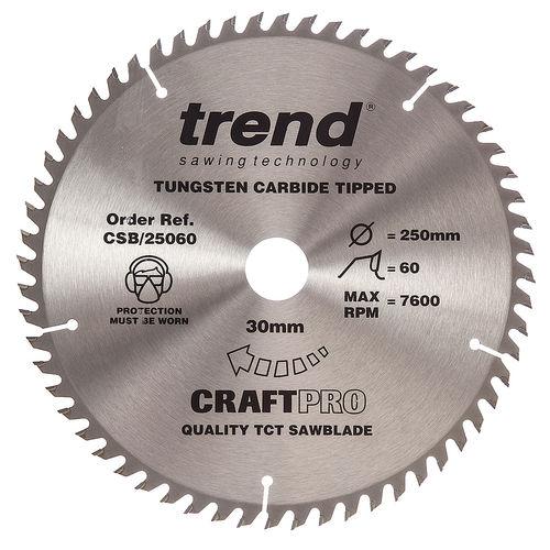 Trend CSB/25060 CraftPro Saw Blade 250mm x 30mm x 60T
