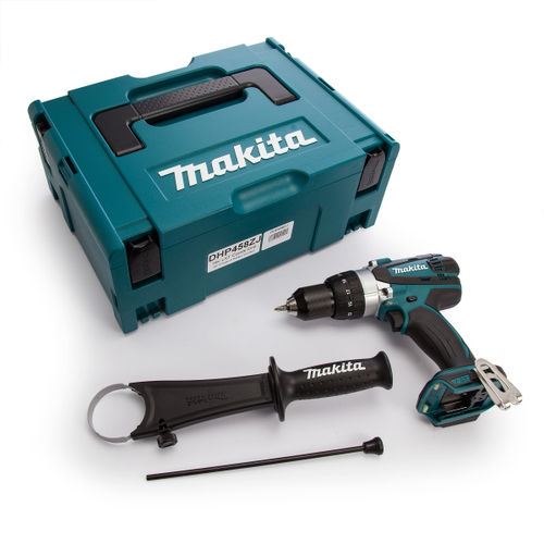 Makita DHP458ZJ 18V Cordless Compact 2-speed Combi Drill (Body Only) in Makpac Carry Case