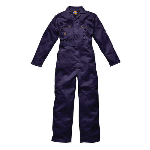 "Dickies WD4839 Front Zip Redhawk Coverall - Navy Blue 40"" Long"