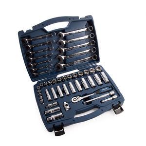 """Sealey AK8996 Socket & Spanner Set 3/8""""Sq Drive Walldrive Metric (46 Piece)"""