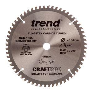 Trend CSB/CC18460T CraftPro Saw Blade Crosscut 184mm x 60 Teeth