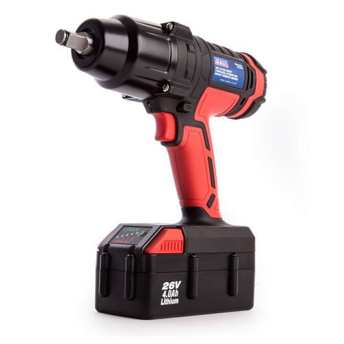 Sealey CP2612 Cordless 26V Impact Wrench 680Nm 1/2 Inch Drive (1 x 4.0Ah Battery)