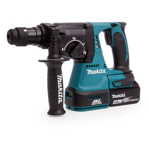 Makita DHR243RMJ 18V li-ion SDS+ Brushless 3 Mode Rotary Hammer Drill 24mm with Quick Change Chuck (2 x 4.0Ah Batteries)