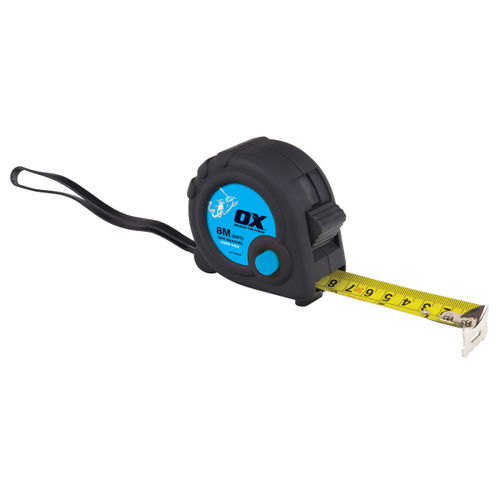 OX Tape Measure 8m/26ft Metric/Imperial Trade Series (T020608)