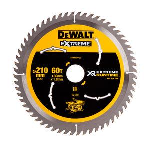 Dewalt DT99567 XR Extreme Runtime Circular Saw Blade 210mm x 30mm x 60T