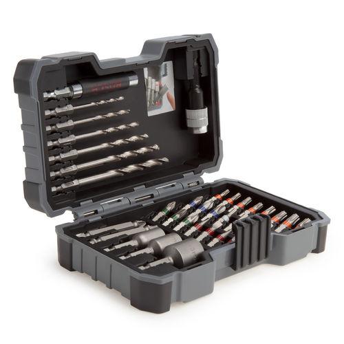 Bosch 2607017328 HSS-G Drills for Metal / Screwdriver Bit Set (35 Piece)