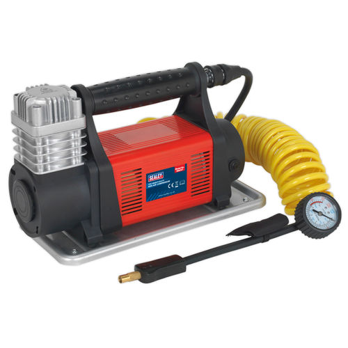 Sealey MAC07 Heavy-Duty Mini Air Compressor 12V