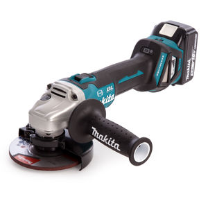 Makita DGA513RTJ 18V 125mm Cordless Angle Grinder (2 x 5.0Ah Batteries)