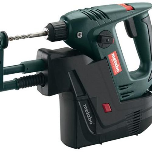 Metabo BHE20 Compact and IDR 110V - 450W Two Function SDS Plus Rotary Hammer - with integrated dust extraction