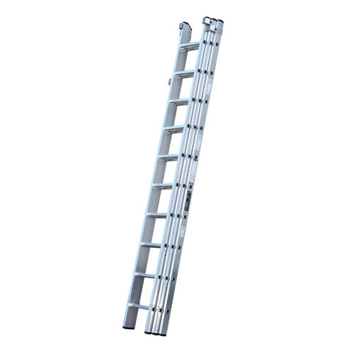 Youngman 570122 Trade 200 3 Section Aluminium Extension Ladder 3.08 - 7.43 Metres