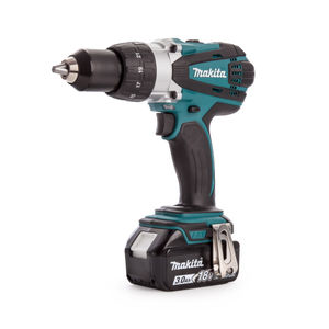 Makita DHP458RF3J 18V Cordless li-ion Compact 2-speed Combi Drill (3 x 3.0Ah Batteries)