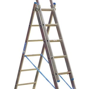 Sealey ACL307 Aluminium Extension Combination Ladder 3x7 En 131