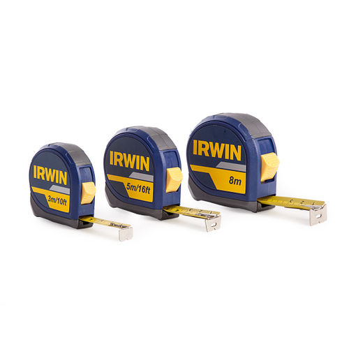 Irwin 1874808 3 Pack of Measuring Tapes (3m, 5m, 8m)