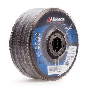 Abracs ABFZ115B080 Pro Zirconium Flap Disc 80 Grit 115 x 22mm (5 Pack)