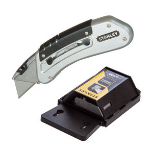 Stanley Quickslide Utility Knife + 100 Heavy Duty Blades