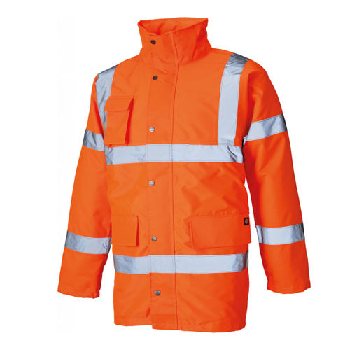 Dickies SA22045 Hi Vis Motorway Safety Jacket Orange - XXLarge