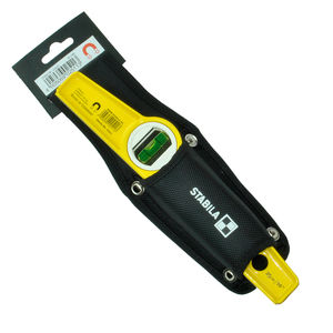"Stabila 81S-10MH (02511) Magnetic Scaffold Level 10"" / 25cm with Holster"