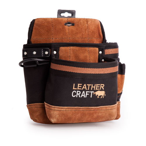 Leather Craft LC203 Single Pouch With 2 Large Pockets