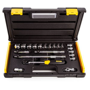 Stanley 2-85-583 MicroTough Socket Set 3/8 Inch Drive 21 Piece