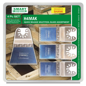 Smart H4MAK Multi Tool Blade Set of 4 with Quick Release Fitment