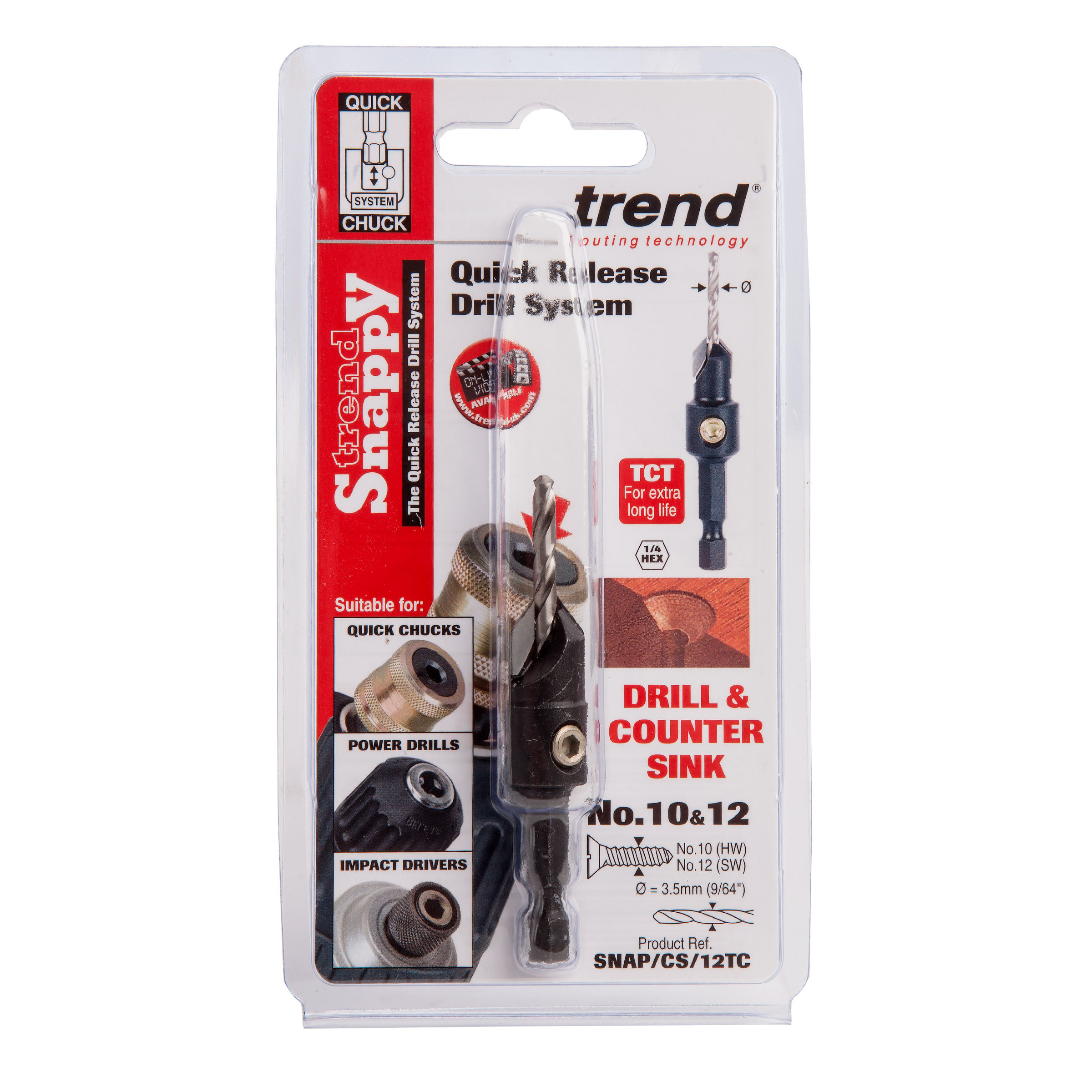 TREND SNAP//CS//12 SNAPPY COUNTERSINK WITH 9//64 DRILL