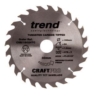 Trend CSB/19024TC CraftPro Saw Blade 190mm x 24 Teeth x 30mm