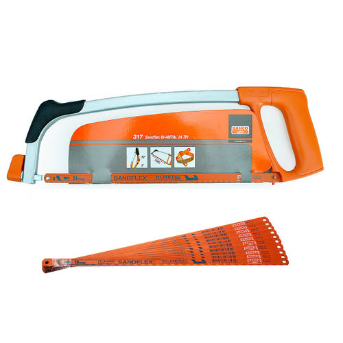 Bahco 317 12 Inch Hacksaw Frame with 1 x 24TPI Blade + 10 x 18TPI Blades