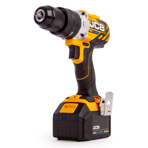 JCB 18BLCD-5 18V Brushless Combi Drill in L-Boxx 136 (2 x 5.0Ah Batteries)