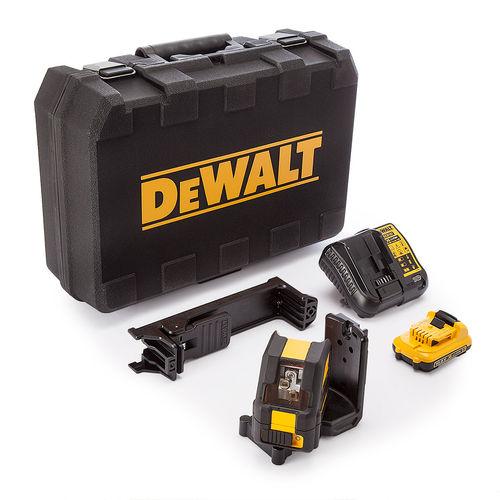 Dewalt DCE088D1G 10.8V Self Leveling Cross Line Green Laser (1 x 2.0Ah Battery)