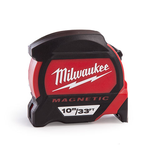 Milwaukee 48227233 Premium Magnetic Tape Measure (10m/33ft)