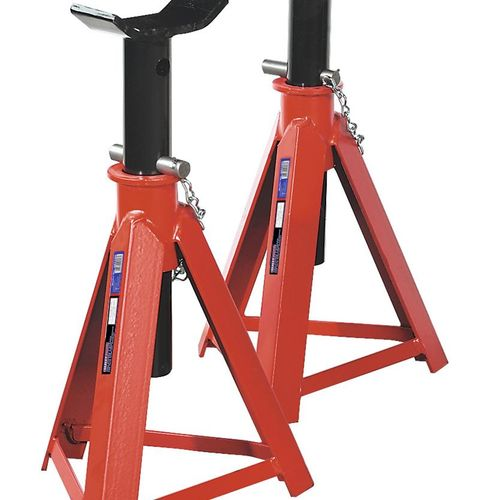 Sealey AS7500 Axle Stands 7.5tonne Capacity Per Stand 15tonne Per Pair Medium Height