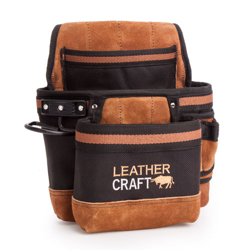 Leather Craft LC204 Single Pouch with 2 Large Pockets