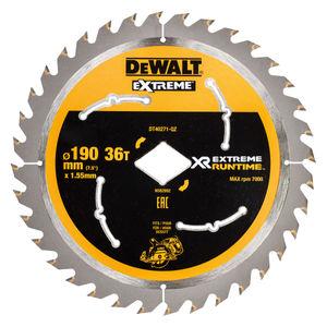 Dewalt DT40271 XR Flexvolt Extreme Runtime Circular Saw Blade 190mm x 36T