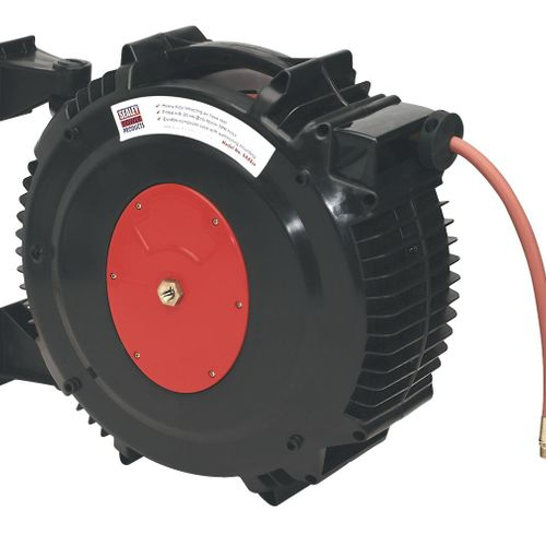 Sealey SA88 Retractable Air Hose Reel 20mtr ∅10mm Id Tpr Hose
